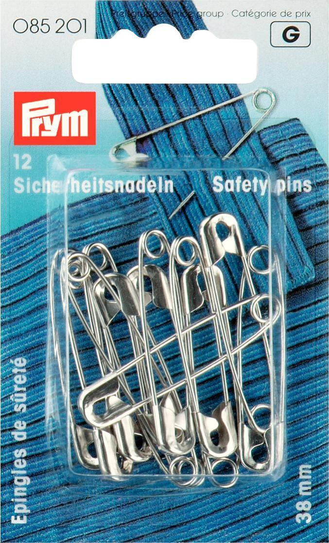 Булавки английские Prym, цвет: серебристый, 38 мм, 12 шт085201Английские булавки со спиралью Prym изготовлены из латуни с защитой от ржавчины. Имеют покрытие серебристого цвета. В наборе - 12 булавок одного размера. Материал: латунь. Комплектация: 12 шт. Длина булавок: 38 мм.