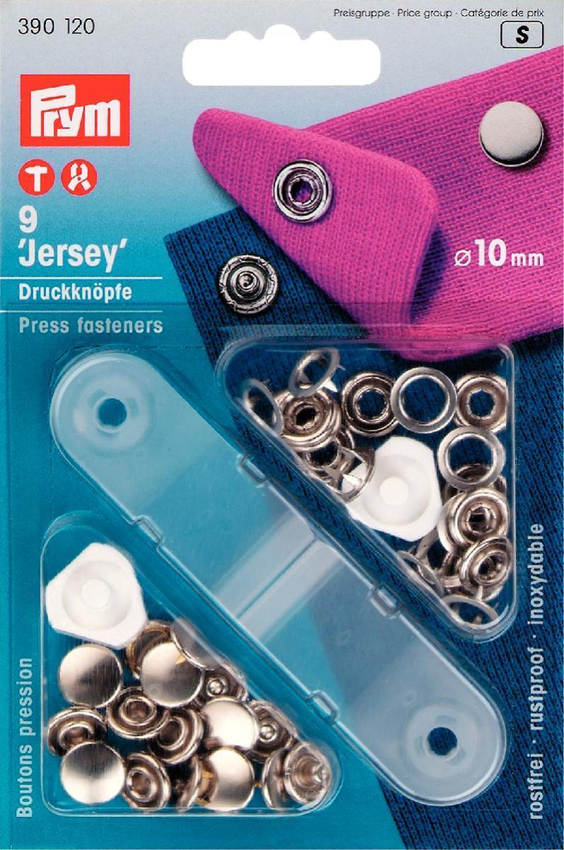 Кнопки Prym Jersey, цвет: серебристый, диаметр 10 мм, 9 шт390120Кнопки Prym Jersey изготовлены из латуни. Оснащены отверстием для фиксации. Нижняя часть отбортована. В комплекте - 9 пар кнопок и пластиковый инструмент для установки. Используются при ремонте и пошиве одежды. Идеально подходит для блузок и другой одежды из легкой ткани. Диаметр кнопок: 10 мм.