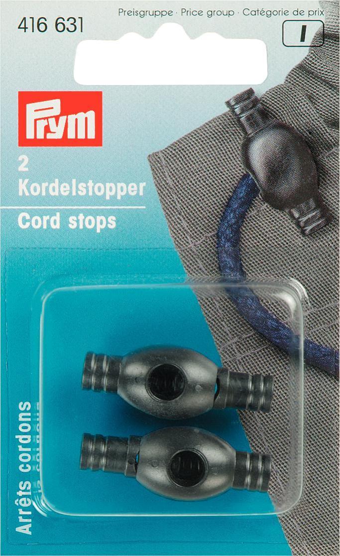 Ограничители для шнура Prym, с одним отверстием, цвет: черный, длина 3 см, 2 шт416631Пластиковые ограничители Prym помогут надежно и красиво зафиксировать шнур на одежде, сумке, обуви. В комплекте - 2 ограничителя с одним отверстием каждый. Длина ограничителей: 3 см.