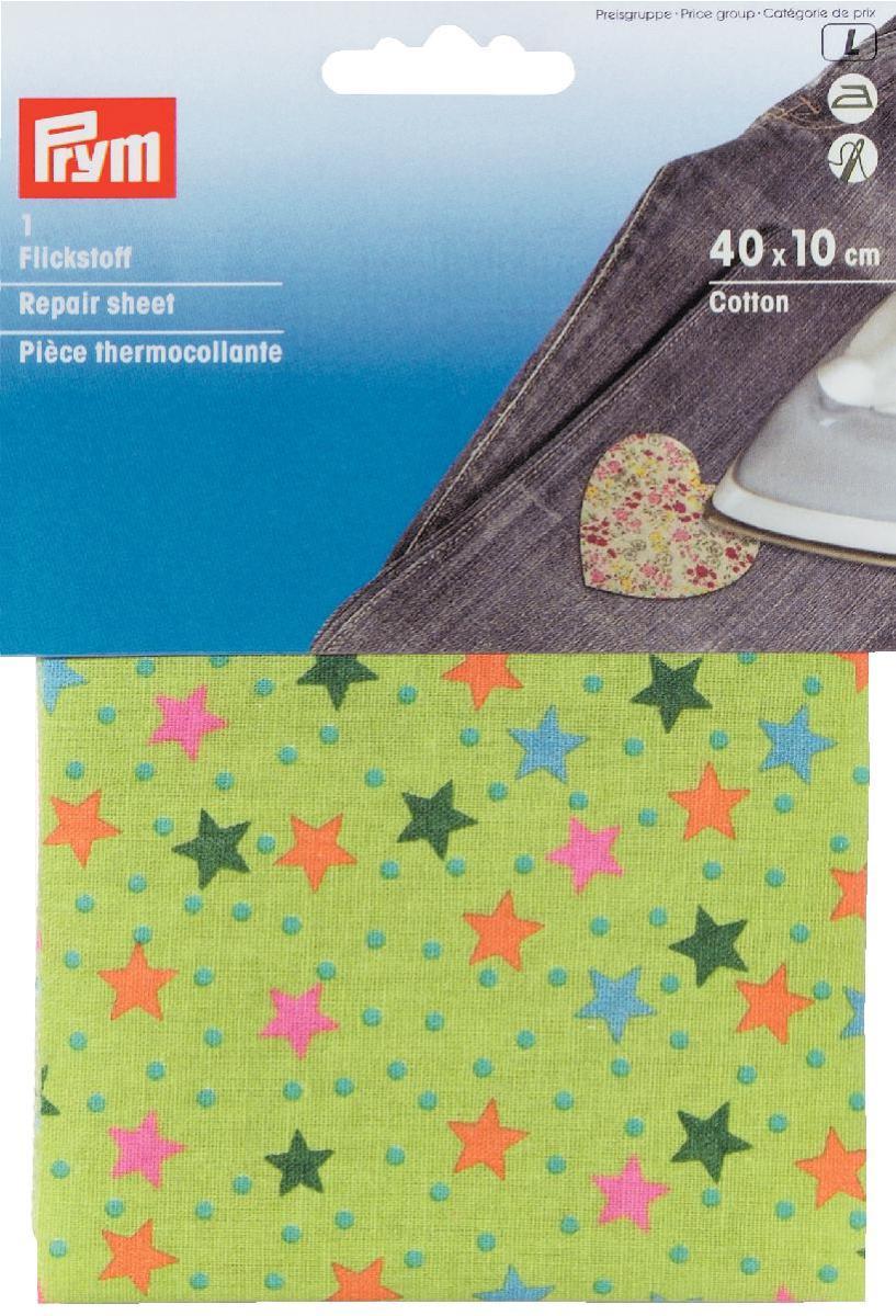Термоткань для заплаток Prym Звезды, цвет: зеленый, красный, 40 х 10 см929433Термоткань Prym Звезды, изготовленная из 100% хлопка и оснащенная с обратной стороны клеевым слоем, используется в качестве заплаток. С помощью нее вы сможете быстро и без труда заделать дырку в джинсах, шортах и пр. Обрежьте края дырки от лишних ниток, прогладьте их утюгом, приложите заранее отрезанный кусок термоткани нужного размера и как следует прогладьте ткань не менее 12 секунд. Для дополнительной прочности ткань можно еще и настрочить. С термотканью Prym Звезды ваши вещи приобретут яркий и креативный дизайн. Размер: 40 см х 10 см.