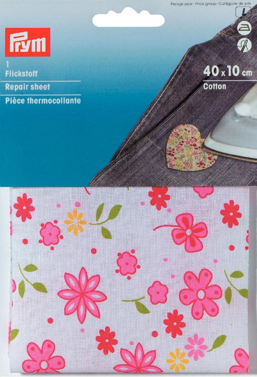 Термоткань для заплаток Prym Цветы, цвет: белый, розовый, 40 см х 10 см929434Термоткань Prym Цветы, изготовленная из 100% хлопка и оснащенная с обратной стороны клеевым слоем, используется в качестве заплаток. С помощью нее вы сможете быстро и без труда заделать дырку в джинсах, шортах и пр. Обрежьте края дырки от лишних ниток, прогладьте их утюгом, приложите заранее отрезанный кусок термоткани нужного размера и как следует прогладьте ткань не менее 12 секунд. Для дополнительной прочности ткань можно еще и настрочить. С термотканью Prym Цветы ваши вещи приобретут яркий и креативный дизайн. Размер: 40 см х 10 см.