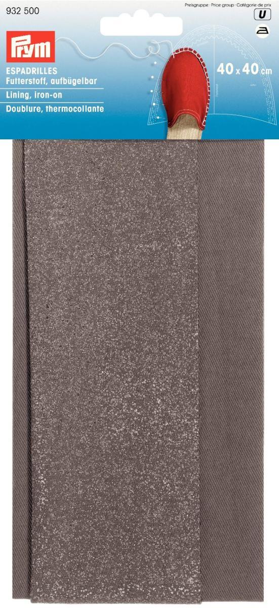 Подкладочная ткань для эспадрилий Prym, цвет: серый, 40 х 40 см932500Подкладка Prym изготовлена из 100% хлопка. Ткань предназначается для изготовления внутренней стороны эспадрилий. Чтобы зафиксировать ткань, ее необходимо прогладить утюгом. Эспадрильи - это матерчатые тапочки на веревочной подошве, которые носятся на босу ногу. Их носят и мужчины, и женщины. Создайте своими руками такую обувь, которой ни у кого другого не будет! Размер: 40 см х 40 см. Материал: 100% хлопок.