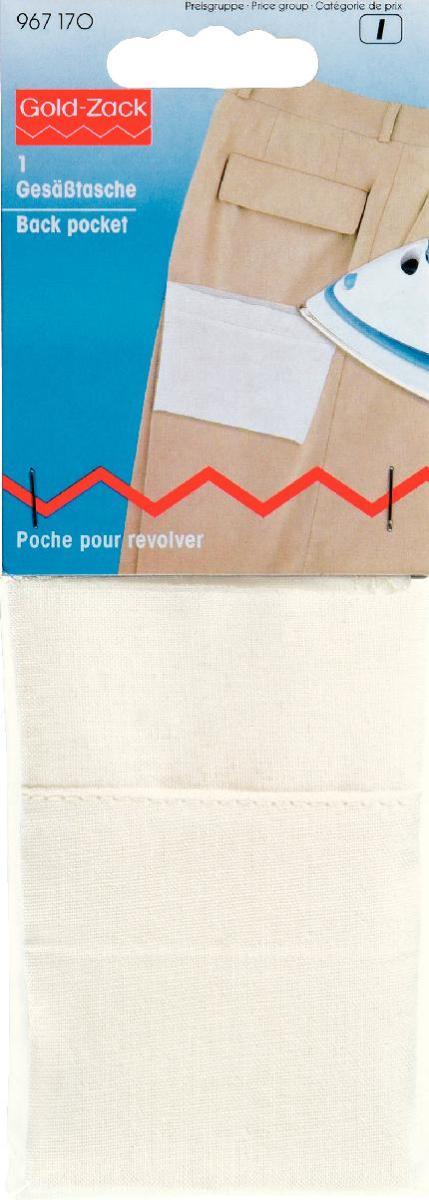 Карман для ремонта брюк Prym, цвет: белый, 18 х 13,5 см967170Карман Prym изготовлен из 100% хлопка и оснащен клеевой прослойкой. С помощью горячего утюга вы сможете быстро и без труда заменить порванный карман на новый. Для дополнительной прочности карман можно еще и настрочить. Размер: 18 см х 13,5 см.