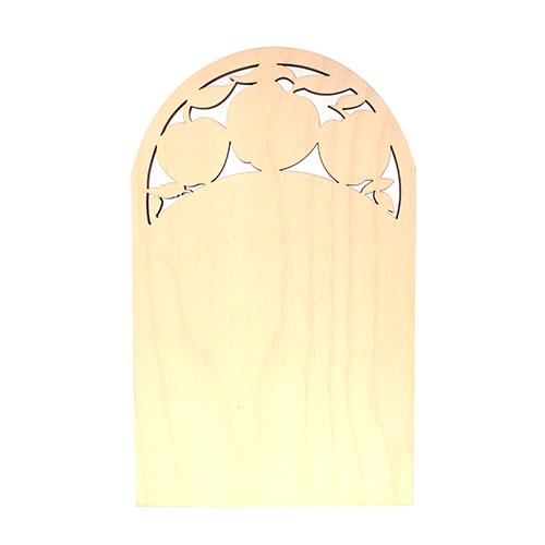 Заготовка для декупажа Астра Доска с яблоками, 20 х 30 см549705Заготовка для декупажа Астра Доска с яблоками, изготовлена из дерева и оснащена отверстием для подвешивания. Изделие прямоугольной формы с закругленными краями сверху и острыми снизу, декорированное резными яблоками, станет хорошим объектом для вашего творчества и занятий декупажем. Заготовка, раскрашенная красками, будет прекрасным украшением интерьера или отличным подарком. Материал: фанера.
