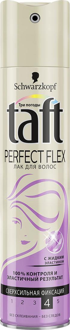 TAFT CLASSIC Лак Perfect Flex сверхсильной фиксации, 225 мл9065620С ЖИДКИМ ЭЛАСТИНОМ ЭЛАСТИЧНЫЙ РЕЗУЛЬТАТ – СВЕРХСИЛЬНАЯ ФИКСАЦИЯ Формула Taft Perfect Flex с жидким Эластином обеспечивает 100% контроля и эластичный результат! - 24 часа фиксации без склеивания, не оставляет следов. - Помогает защитить волосы от пересушивания, не утяжеляя их.