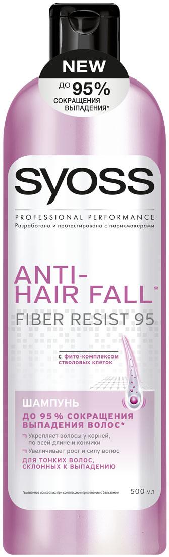 SYOSS Шампунь Anti-hair fall , 500 мл9034292До 95 % СОКРАЩЕНИЯ ВЫПАДЕНИЯ ВОЛОС, вызванного ломкостью. Формула с фито-комплексом стволовых клеток: 1) Действует непосредственно на корни волос 2) Укрепляет волосы по всей длине до самых кончиков 3) Волосы длинные & крепкие