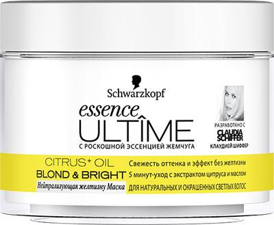 ESSENCE ULTIME Маска в банке нейтрализующая желтизну Blond &Bright, 200 мл926306331Осветляющий уход для натуральных и окрашенных светлых волос. - постепенное усиление оттенка блонд - легкий эффект осветления - для сияния и фееричного блеска волос