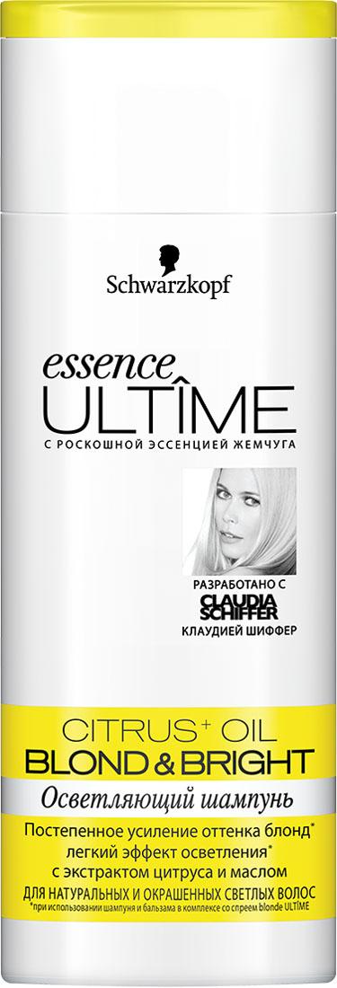 ESSENCE ULTIME Шампунь Blond &Bright, 250 мл926306335Осветляющий уход для натуральных и окрашенных светлых волос. - постепенное усиление оттенка блонд - легкий эффект осветления - для сияния и фееричного блеска волос