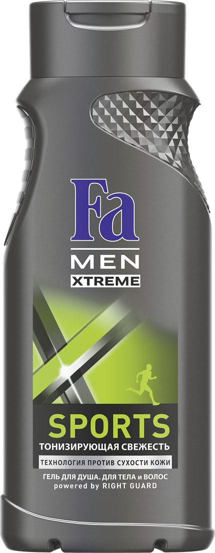 FA MEN Xtreme Гель для душа Sports, 250 мл120527083Испытай ощущение экстремальной свежести Fa MEN Sports, идеально после занятий спортом. Инновационная технология Против Сухости Кожи придает свежесть и увлажняет кожу, предотвращая ощущение сухости. Тонизирующий аромат для максимального эффекта свежести. Подходит для тела и волос. Хорошая переносимость кожей подтверждена дерматологами. Также откройте для себя антиперспиранты Fa MEN Xtreme для экстремальной защиты 72ч.