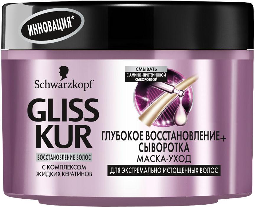 GLISS KUR Маска в банке Глубокое Восстановление и Сыворотка, 200 мл