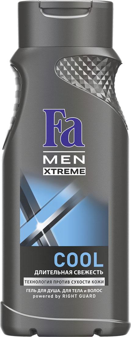 FA MEN Xtreme Гель для душа Cool, 250 мл120527081Испытай заряд свежести Fa MEN COOL для продолжительного ощущения чистой и обновленной кожи. Инновационная технология Против Сухости Кожи придает свежесть и увлажняет кожу, предотвращая ощущение сухости. Подходит для тела и волос. Дезодорирующий эффект Легкий свежий аромат для большей уверенности в себе. Хорошая переносимость кожей подтверждена дерматологами. Также откройте для себя антиперспиранты Fa MEN Xtreme для непревзойденной защиты 72ч.