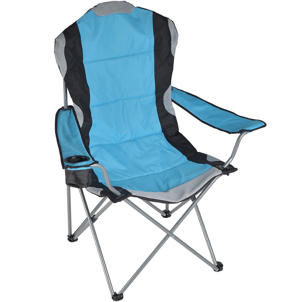 "Кресло складное ""Green Glade"", цвет: голубой, 60 х 66 х 50/95 см"