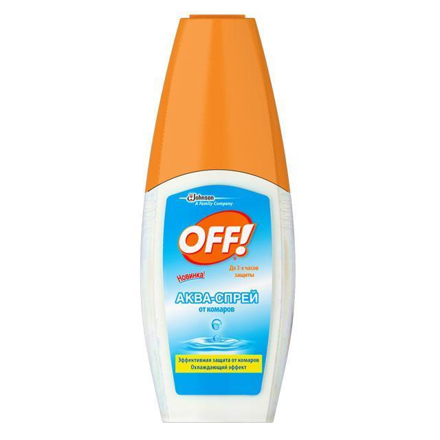 Аква-спрей от комаров ОFF!, 100 мл646442Аква-спрей ОFF! - безопасная и эффективная защита от комаров и других кровососущих насекомых. Идеален для лета: оказывает приятное охлаждающее действие без ощущения липкости. Обеспечивает защиту в течение 3 часов при нанесении на кожу и 10 суток при нанесении на одежду.
