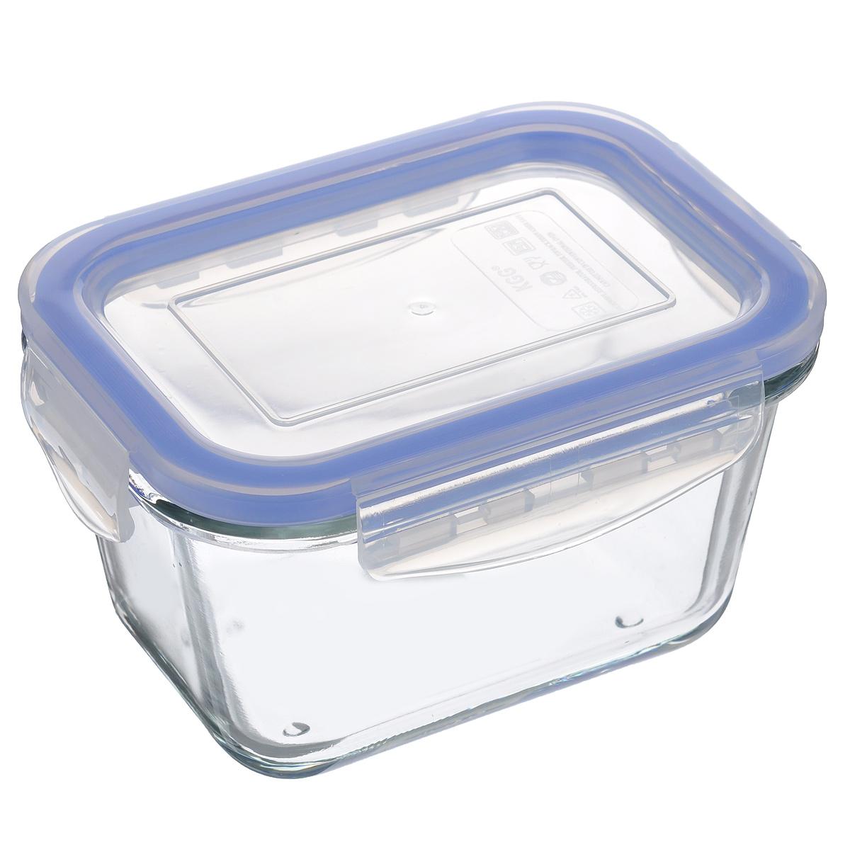 Контейнер стеклянный Mijotex с крышкой, 400 млLRE8Прямоугольный пищевой контейнер Mijotex изготовлен из экологически чистого жаропрочного стекла. Изделие оснащено крышкой, выполненной из пластика, которая надежно закрывается с помощью четырех защелок. Благодаря уплотнительной резинке, крышка полностью герметична. Контейнер прекрасно подходит для хранения, приготовления и разогрева пищи. Допускается нагрев посуды до 450°С. Изделие пригодно для использования в духовом шкафу, на газовых конфорках (на слабом огне), электроплитах, в СВЧ-печах. Можно использовать для хранения в холодильниках и морозильных камерах. Можно мыть в посудомоечной машине. Размер контейнера (без учета крыши): 13 см х 9,5 см х 7 см. Объем: 400 мл.