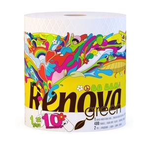 Полотенца бумажные RenovaGreen Gigaroll, двухслойные, цвет: белый, 1 рулон200065330Бумажные полотенца RenovaGreen Gigaroll изготовлены из 100% целлюлозы. Мягкие полотенца идеальны для ежедневного ухода, благодаря тому, что они хорошо удерживают влагу. Один рулон бумажных полотенец RenovaGreen Gigaroll равняется 10 стандартным рулонам. Состав: целлюлоза. Количество листов: 480 шт. Размер листа: 21 см х 20 см. Количество слоев: 2. Количество рулонов: 1 шт. Португальская компания Renova является ведущим разработчиком новейших технологий производства, нового стиля и направления на рынке гигиенической продукции. Современный дизайн и высочайшее качество, дерматологический контроль - это то, что выделяет компанию Renova среди других производителей бумажной санитарно-гигиенической продукции.