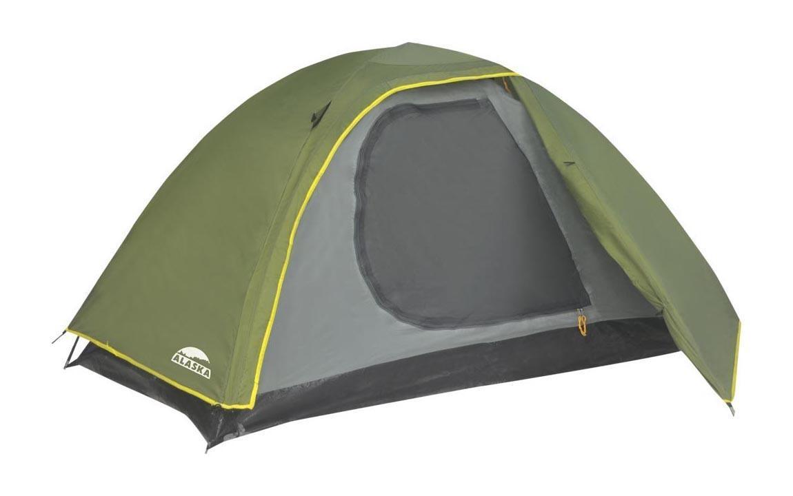 Палатка ALASKA Трек 2, цвет: олива. 2608026080-516-00Легкая двухслойная палатка для молодежи - идеально подойдет для путешественников, делающих первые шаги по освоению российских просторов. Двухслойная палатка с внутренним каркасом позволяет использовать в жаркую погоду внутреннюю палатку без тента. Внешний тент, имеющий небольшой тамбур, обеспечит защиту от непогоды. Ткань тента: Poly Taffeta 190T PU 2000. Ткань палатки: Poly Taffeta 180T. Ткань дна: Tarpauling (армированный полиэтилен). Дуги: Fiberglass 7,9 мм. Вместимость: 2 человека.