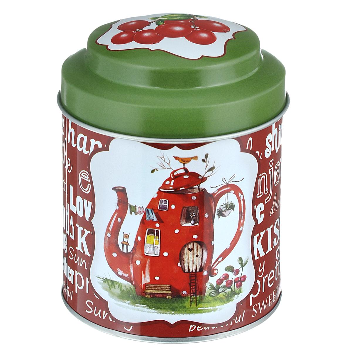 LCS Банка для сыпучих продуктов Зимние яблоки (чай), LCS670_PLT-M-AL