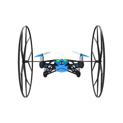 Parrot Квадрокоптер на радиоуправлении Rolling Spider цвет синийPF723007В отличие от своего наземного собрата Jumping Sumo, квадрокоптер Parrot Rolling Spider относится к классу летающих минидронов, способных совершить настоящий полет и выполняющих умопомрачительные акробатические трюки в воздухе. Несмотря на свои маленькие размеры и скромный вес (55 г), малютка Rolling Spider очень ловок, быстр и проворен, может выполнять невероятные перевороты под углом 90° и 180°, а также петли взад и вперед благодаря функции «вихревого движения» и оснащен необычными колесами, которые соединяются небольшой планкой и удобно крепятся на его спине. Они не предназначены для гоночных состязаний, но наделяют минидрон уникальными возможностями и служат для защиты лопастей от повреждений при столкновении с посторонними объектами. Вместе с колесами Rolling Spider производит впечатление фантастического объекта из другой Вселенной, настоящего инопланетного гостя, космического пришельца, разработку далекого будущего, где повсюду ходят роботы...