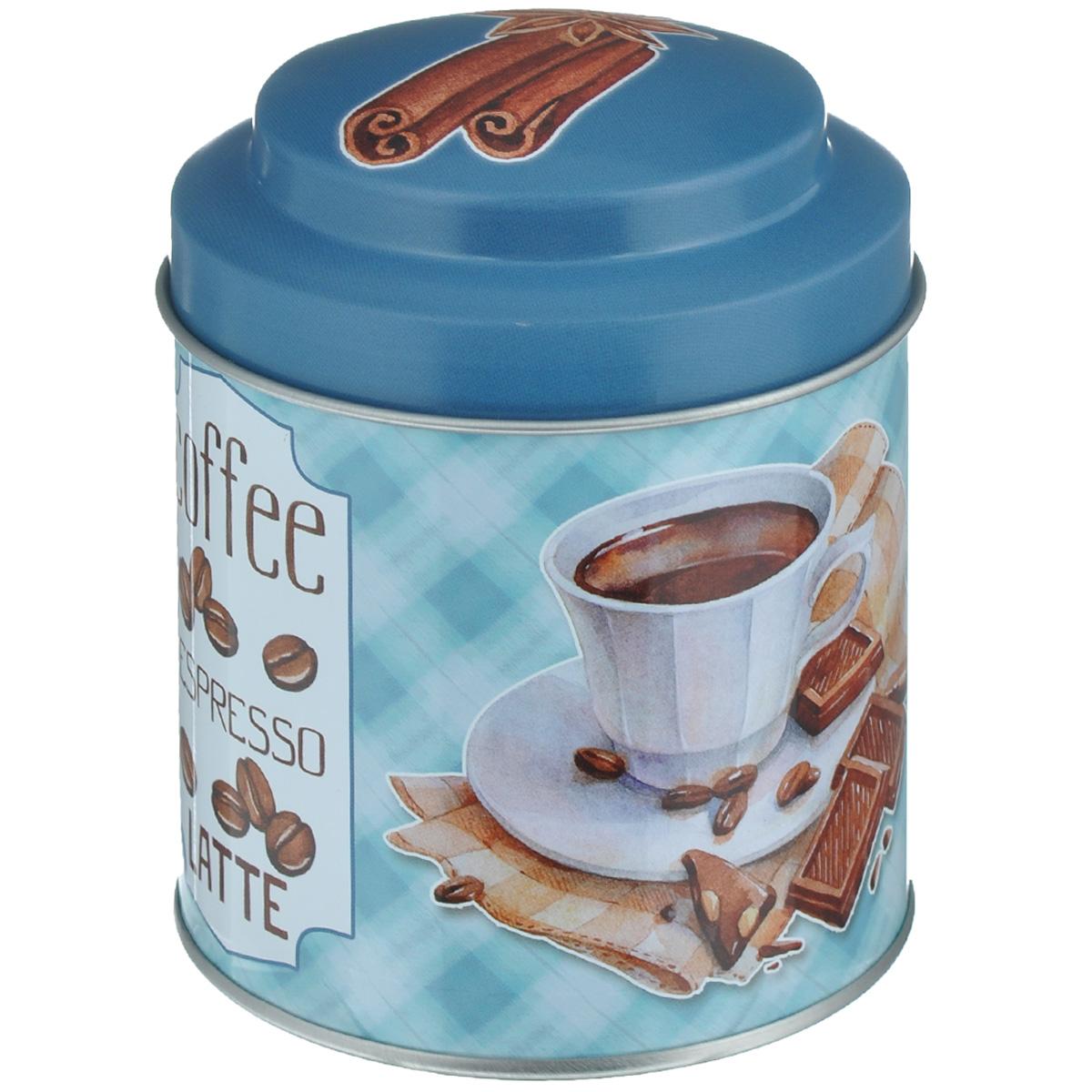 Банка для сыпучих продуктов Феникс-презент Кофе, 680 мл37642Банка для сыпучих продуктов Феникс-презент Кофе, изготовленная из окрашенного черного металла, оформлена ярким рисунком. Банка прекрасно подойдет для хранения различных сыпучих продуктов: специй, чая, кофе, сахара, круп и многого другого. Емкость плотно закрывается крышкой. Благодаря этому она будет дольше сохранять свежесть ваших продуктов. Функциональная и вместительная, такая банка станет незаменимым аксессуаром на любой кухне. Нельзя мыть в посудомоечной машине. Объем банки: 680 мл. Высота банки (без учета крышки): 10 см. Диаметр банки (по верхнему краю): 9 см.