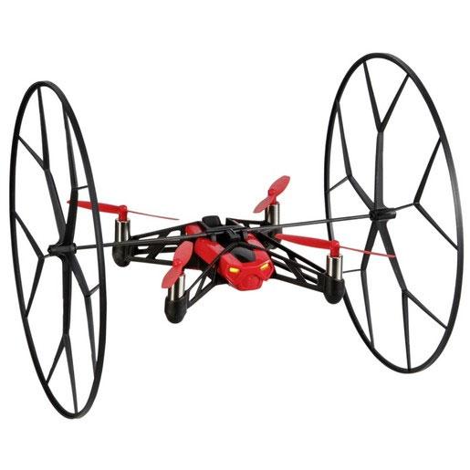 Parrot Квадрокоптер на радиоуправлении Rolling Spider цвет красныйPF723008В отличие от своего наземного собрата Jumping Sumo, квадрокоптер Parrot Rolling Spider относится к классу летающих минидронов, способных совершить настоящий полет и выполняющих умопомрачительные акробатические трюки в воздухе. Несмотря на свои маленькие размеры и скромный вес (55 г), малютка Rolling Spider очень ловок, быстр и проворен, может выполнять невероятные перевороты под углом 90° и 180°, а также петли взад и вперед благодаря функции «вихревого движения» и оснащен необычными колесами, которые соединяются небольшой планкой и удобно крепятся на его спине. Они не предназначены для гоночных состязаний, но наделяют минидрон уникальными возможностями и служат для защиты лопастей от повреждений при столкновении с посторонними объектами. Вместе с колесами Rolling Spider производит впечатление фантастического объекта из другой Вселенной, настоящего инопланетного гостя, космического пришельца, разработку далекого будущего, где повсюду ходят роботы...