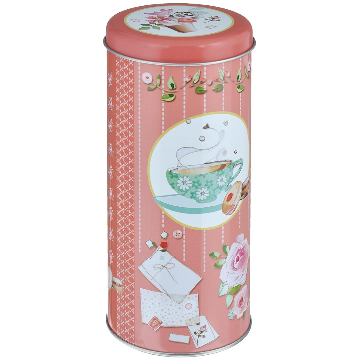 Банка для сыпучих продуктов Феникс-презент Ромашковый чай, 800 мл37625Банка для сыпучих продуктов Феникс-презент Ромашковый чай, изготовленная из окрашенного черного металла, оформлена ярким рисунком. Банка прекрасно подойдет для хранения различных сыпучих продуктов: специй, чая, кофе, сахара, круп и многого другого. Емкость плотно закрывается крышкой. Благодаря этому она будет дольше сохранять свежесть ваших продуктов. Функциональная и вместительная, такая банка станет незаменимым аксессуаром на любой кухне. Нельзя мыть в посудомоечной машине. Объем банки: 800 мл. Высота банки (без учета крышки): 17,5 см. Диаметр банки (по верхнему краю): 7,5 см.