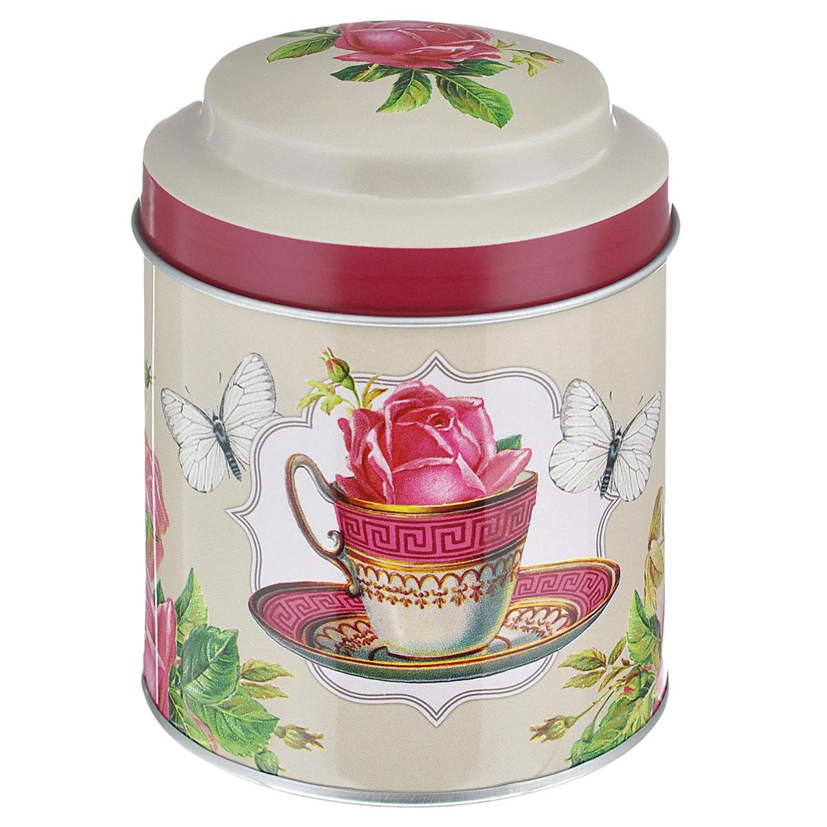 Банка для сыпучих продуктов Феникс-презент Чайная роза, 680 мл37645Банка для сыпучих продуктов Феникс-презент Чайная роза, изготовленная из окрашенного черного металла, оформлена ярким рисунком. Банка прекрасно подойдет для хранения различных сыпучих продуктов: специй, чая, кофе, сахара, круп и многого другого. Емкость плотно закрывается крышкой. Благодаря этому она будет дольше сохранять свежесть ваших продуктов. Функциональная и вместительная, такая банка станет незаменимым аксессуаром на любой кухне. Нельзя мыть в посудомоечной машине. Объем банки: 680 мл. Высота банки (без учета крышки): 10 см. Диаметр банки (по верхнему краю): 9 см.
