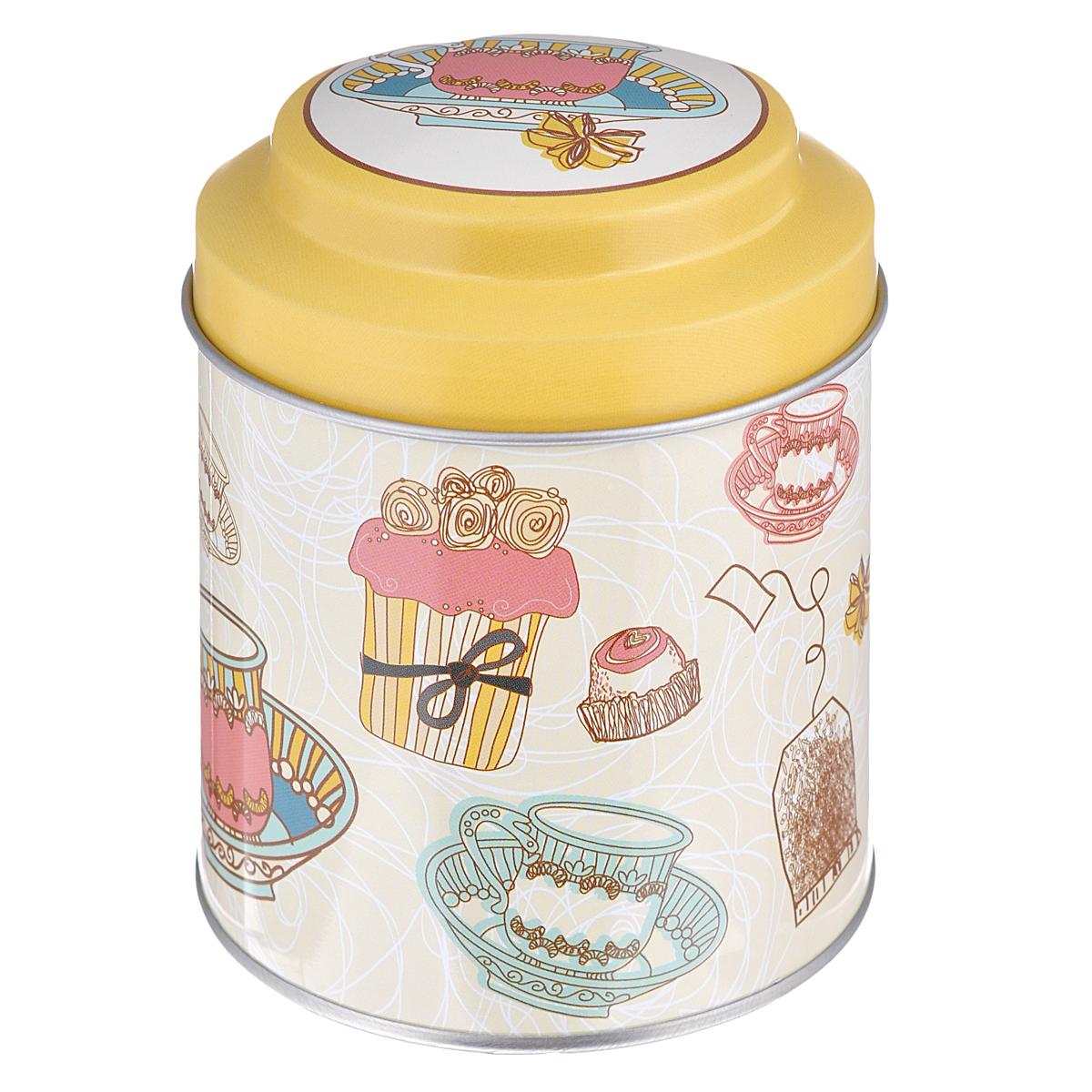 Банка для сыпучих продуктов Феникс-презент Чайное утро, 680 мл37644Банка для сыпучих продуктов Феникс-презент Чайное утро, изготовленная из окрашенного черного металла, оформлена ярким рисунком. Банка прекрасно подойдет для хранения различных сыпучих продуктов: специй, чая, кофе, сахара, круп и многого другого. Емкость плотно закрывается крышкой. Благодаря этому она будет дольше сохранять свежесть ваших продуктов. Функциональная и вместительная, такая банка станет незаменимым аксессуаром на любой кухне. Нельзя мыть в посудомоечной машине. Объем банки: 680 мл. Высота банки (без учета крышки): 10 см. Диаметр банки (по верхнему краю): 9 см.