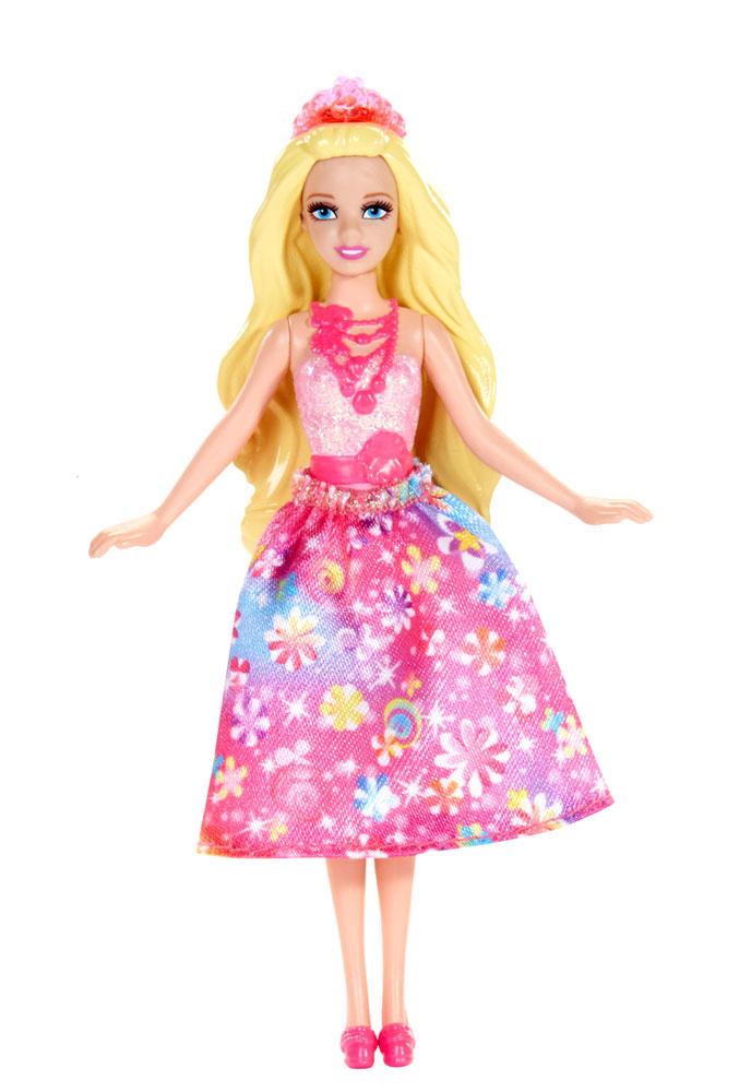Barbie Мини-кукла Сказочная цвет платья розовый