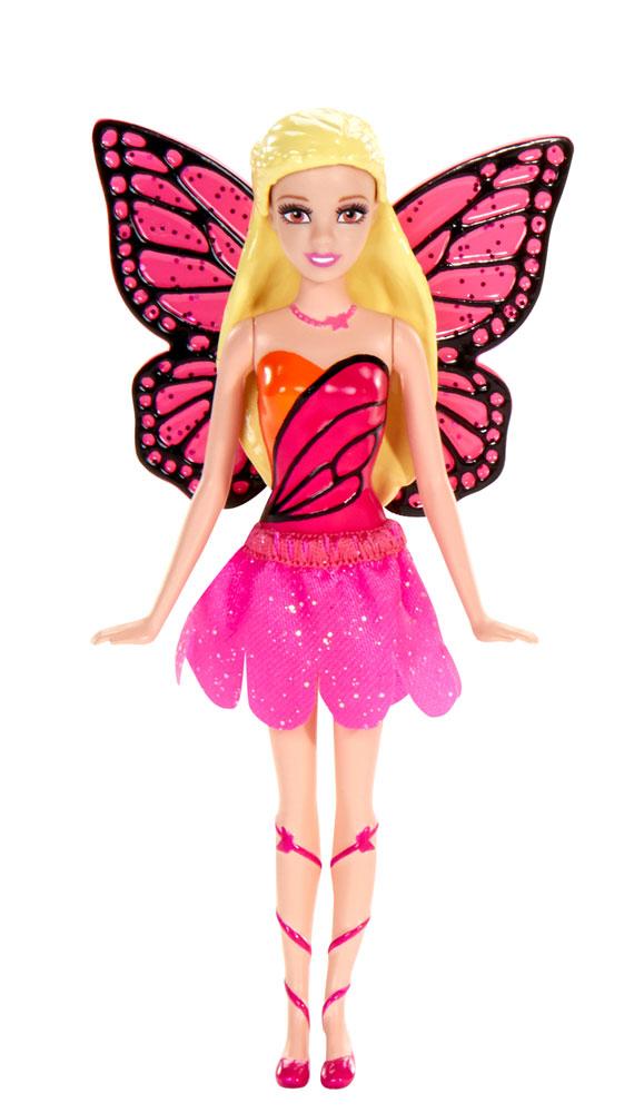 Barbie Мини-кукла Сказочная с крыльямиV7050_BLP47Эта сказочная куколка позволит разыгрывать сцены из любимых мультфильмов о Барби и придумывать собственные истории. На куколке надета снимающаяся текстильная юбочка, за спиной красуются крылышки. Голова, ручки и ножки мини-куклы подвижны. Куколка не может стоять без опоры.
