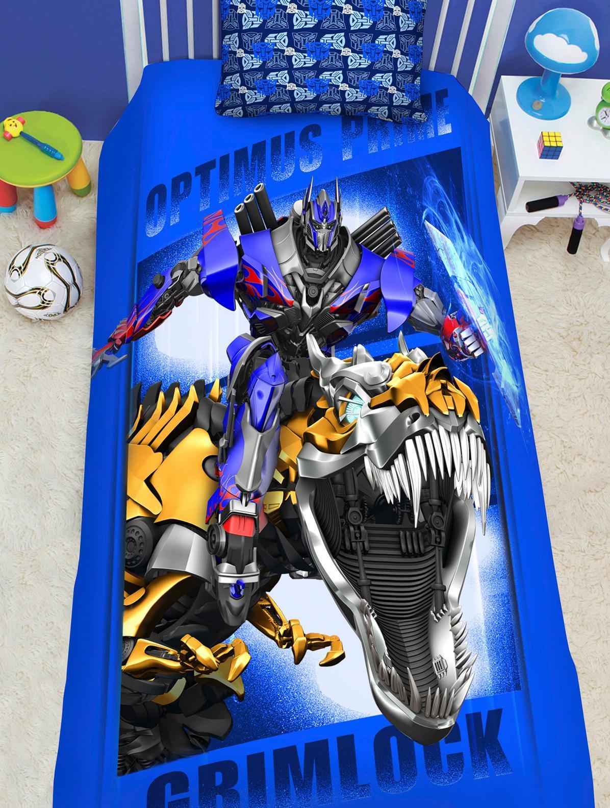 Комплект белья Transformers 2014 (1,5-спальный КПБ, наволочки 50х70)521509КПБ 1,5сп н(1)50*70 Transformers 2014