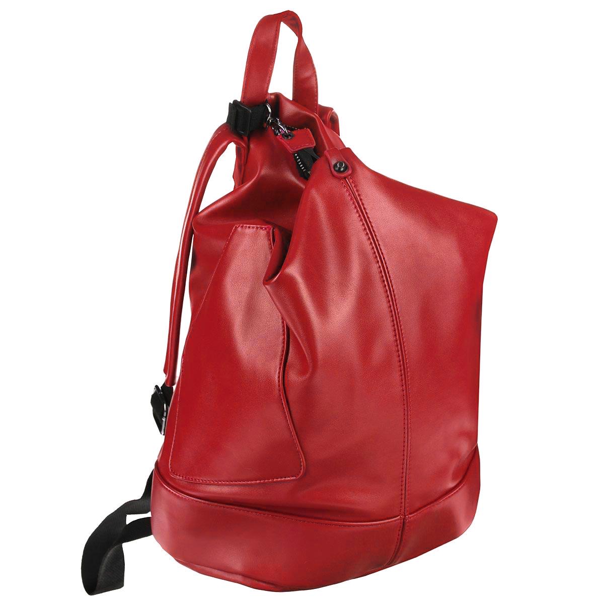 Рюкзак женский Orsa Oro, цвет: красный. DD-579/18D-579/18Женский рюкзак Orsa Oro выполнен из высококачественной искусственной кожи. Рюкзак с одним отделением, застегивающимся на молнию. Внутри один накладной карман на молнии, один врезной на молнии и два накладных кармашка для мелочей. С внешней стороны по бокам дополнительные карманы - один открытый накладной, и один врезной на молнии. Рюкзак снабжен двумя удобными лямками, которые регулируются по длине. В комплекте чехол для хранения. <br Стильный рюкзак Orsa Oro эффектно дополнит ваш яркий образ. .