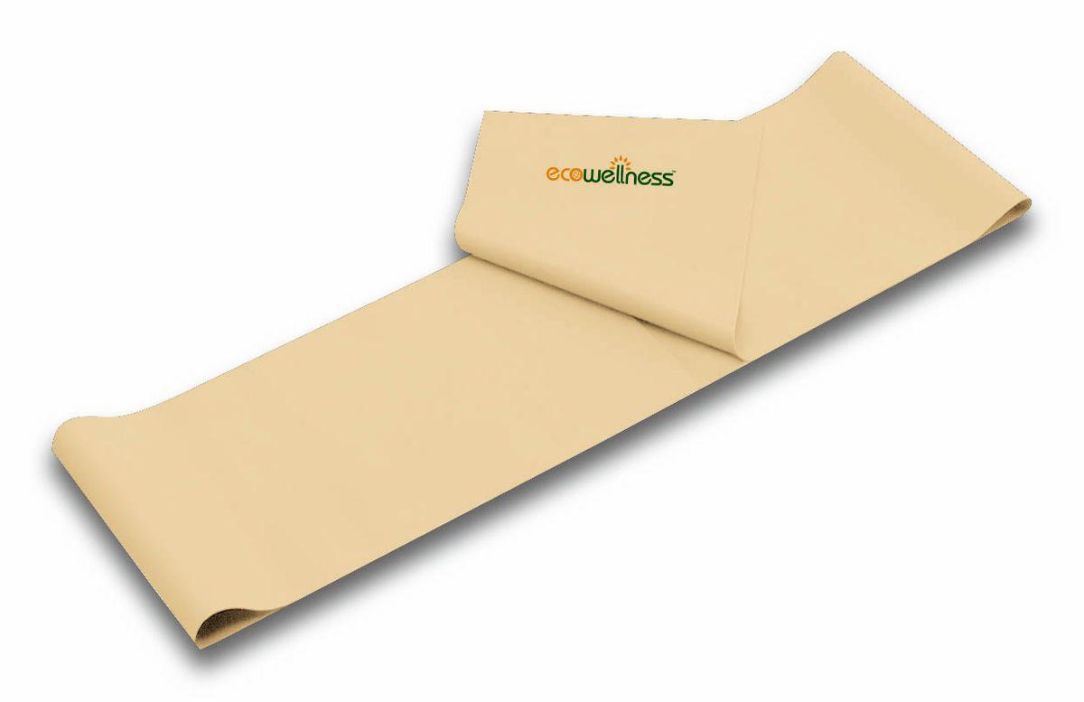 Лента для аэробики Ecowellness, цвет: бежевый, толщина 0,35 мм. QB-102G3-35QB-102G3-35Лента Ecowellness выполнена из высококачественного латекса, предназначена для занятий аэробикой и идеально подходит для укрепления верхней и нижней части тела. Это полноценный компактный тренажер, который удобно брать с собой в дорогу. Размер: 120 см х 15 см. Толщина: 0,35 мм.