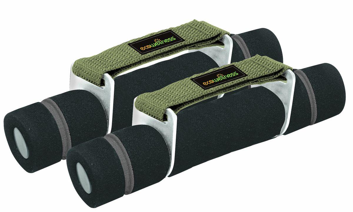 Гантели Ecowellness, цвет: зеленый, черный, 0,5 кг, 2 штQW-312-1KG-BГантели Ecowellness выполнены из высококачественной стали и покрыты мягким неопреном для дополнительного комфорта. В наборе 2 гантели по 0,5 кг. Для лучшей фиксации в руке гантели снабжены ремнями на липучке. Такие гантели идеально подходят для занятий фитнесом и аэробикой. Размер гантели: 20 см х 4 см х 5,5 см. Вес гантели: 0,5 кг.