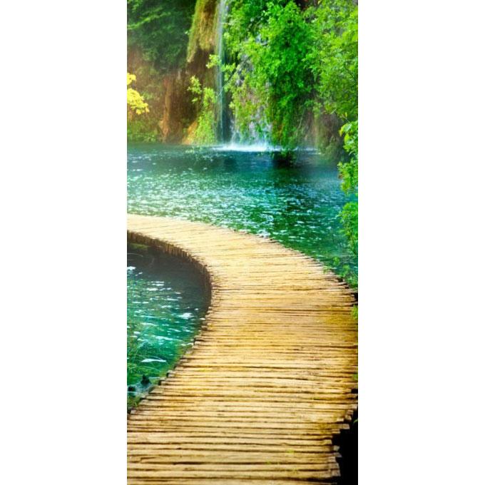 "Фотообои Твоя Планета ""Premium. Дорожка к водопаду"", 3 листа, 97 х 204 см"