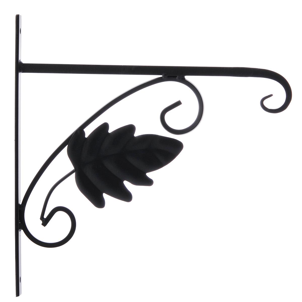 Кронштейн для кашпо Гарденкрафт Клен, цвет: черный3085Кронштейн Гарденкрафт Клен поможет вам украсить цветами окружающее вас пространство. С помощью прочного кронштейна вы сможете расположить корзину с цветами в любом удобном месте. Кронштейн изготовлен из металла, что гарантирует долговечность срока службы. Такой оригинальный кронштейн послужит настоящим украшением и необычным элементом дизайна. Размер кронштейна: 27,5 см х 28 см х 2 см.