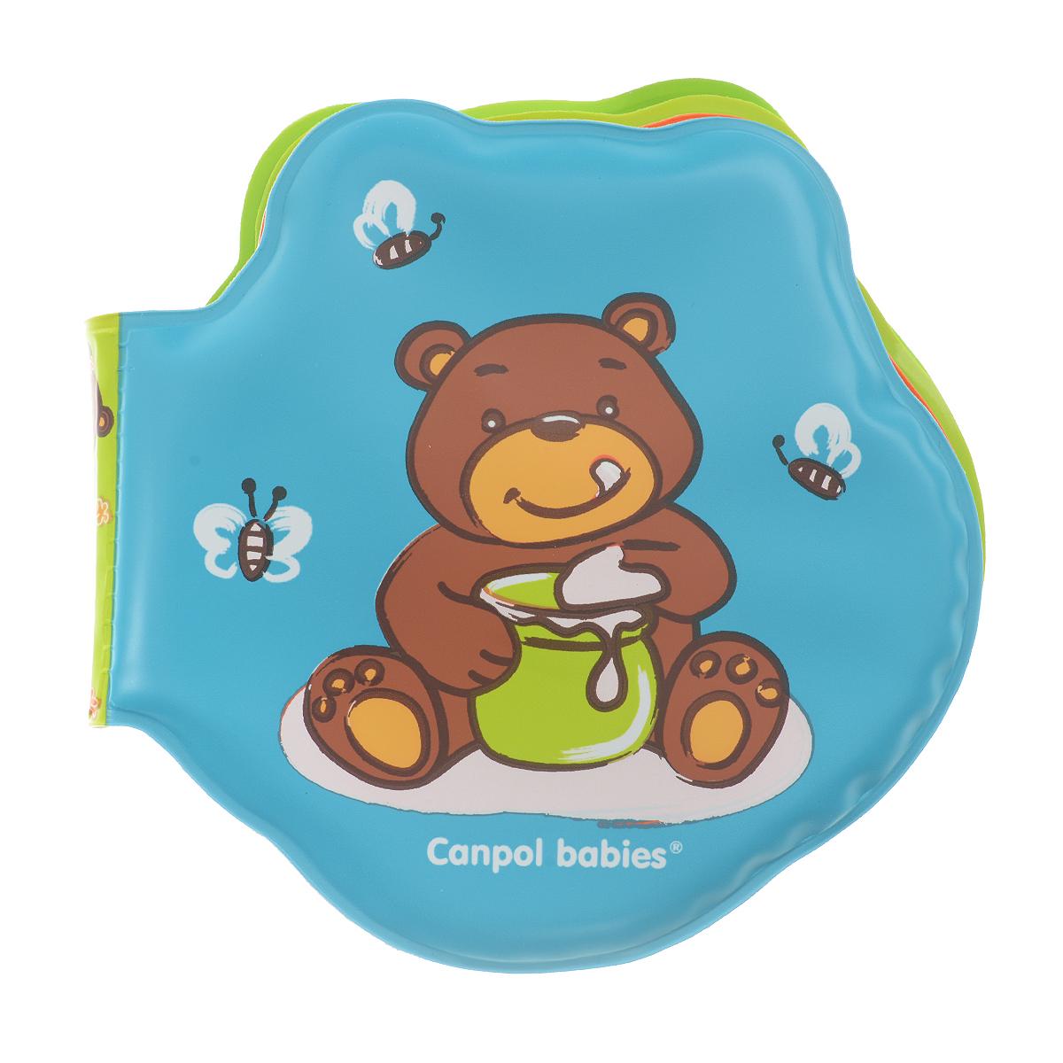 Книжка-игрушка для ванны Canpol Babies, меняющая цвет. 2/0842/084Мягкая книжка-игрушка для ванны Canpol Babies понравится вашему ребенку и развлечет его во время купания. Книжка содержит 4 листа из прочного безопасного материала с изображениями забавного медвежонка. В первом листе спрятана пищалка. Книжечка не промокает и хорошо держится на воде. При погружении в теплую воду странички книги меняют цвет. Красочные картинки привлекают внимание ребенка и стимулируют его изучать новые предметы. Книжка развивает у ребенка воображение, мелкую моторику, концентрацию внимания и цветовое восприятие.