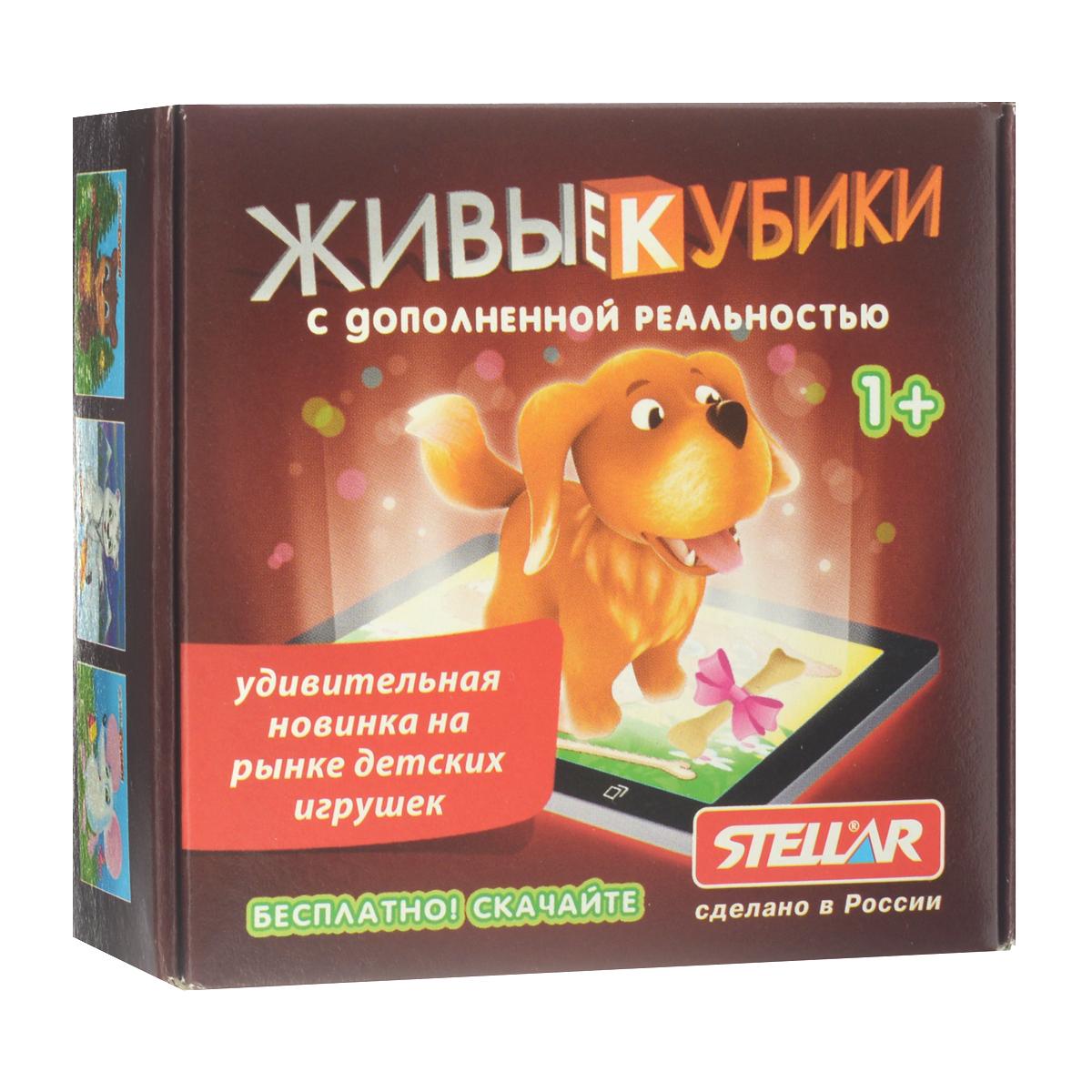 Кубики с дополненной реальностью Stellar Животные, 4 шт00301Живые кубики с дополненной реальностью Stellar Животные - удивительная новинка на рынке детских игрушек, которая непременно понравится вашему ребенку. В набор входит 4 пластиковых кубика с картинками, из которых можно собрать картинки с изображением диких и домашних животных. Также для игры вам понадобится любое мобильное устройство на платформе iOS или Android. Зайдите в онлайн магазин приложений (iTunes для iOS и Google Play для Android) и скачайте бесплатную версию игры по названию, которое вы найдете на упаковке живых кубиков. Вам совсем не надо разбираться, как это работает. Просто запустите приложение, дайте вашему ребенку в руки телефон или планшет, пусть он наведет камеру на собранную картинку - и вот оно, волшебство! Картинка оживет прямо на глазах! Игра с кубиками развивает зрительное восприятие, наблюдательность и внимание, мелкую моторику рук и произвольные движения.