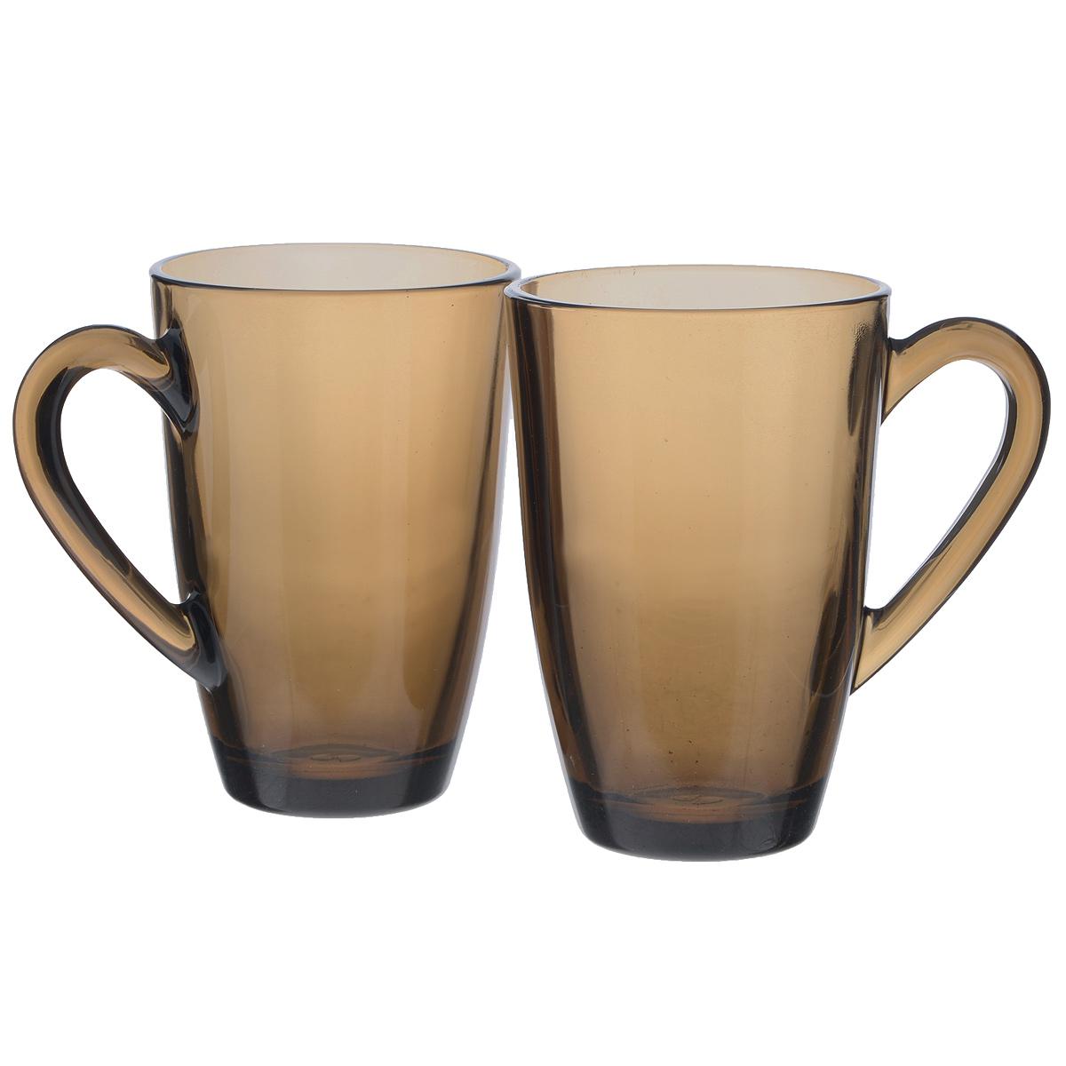 Набор кружек Pasabahce Bronze, 325 мл, 2 шт55393BZTНабор Pasabahce Bronze состоит из двух кружек с удобными ручками, выполненных из закаленного натрий-кальций-силикатного стекла. Изделия хорошо удерживают тепло, не нагреваются. Функциональность, практичность и стильный дизайн сделают набор прекрасным дополнением к вашей коллекции посуды. Можно мыть в посудомоечных машинах и использовать в микроволновых печах. Диаметр кружки по верхнему краю: 7,5 см. Высота кружки: 11,5 см. Объем: 325 мл.