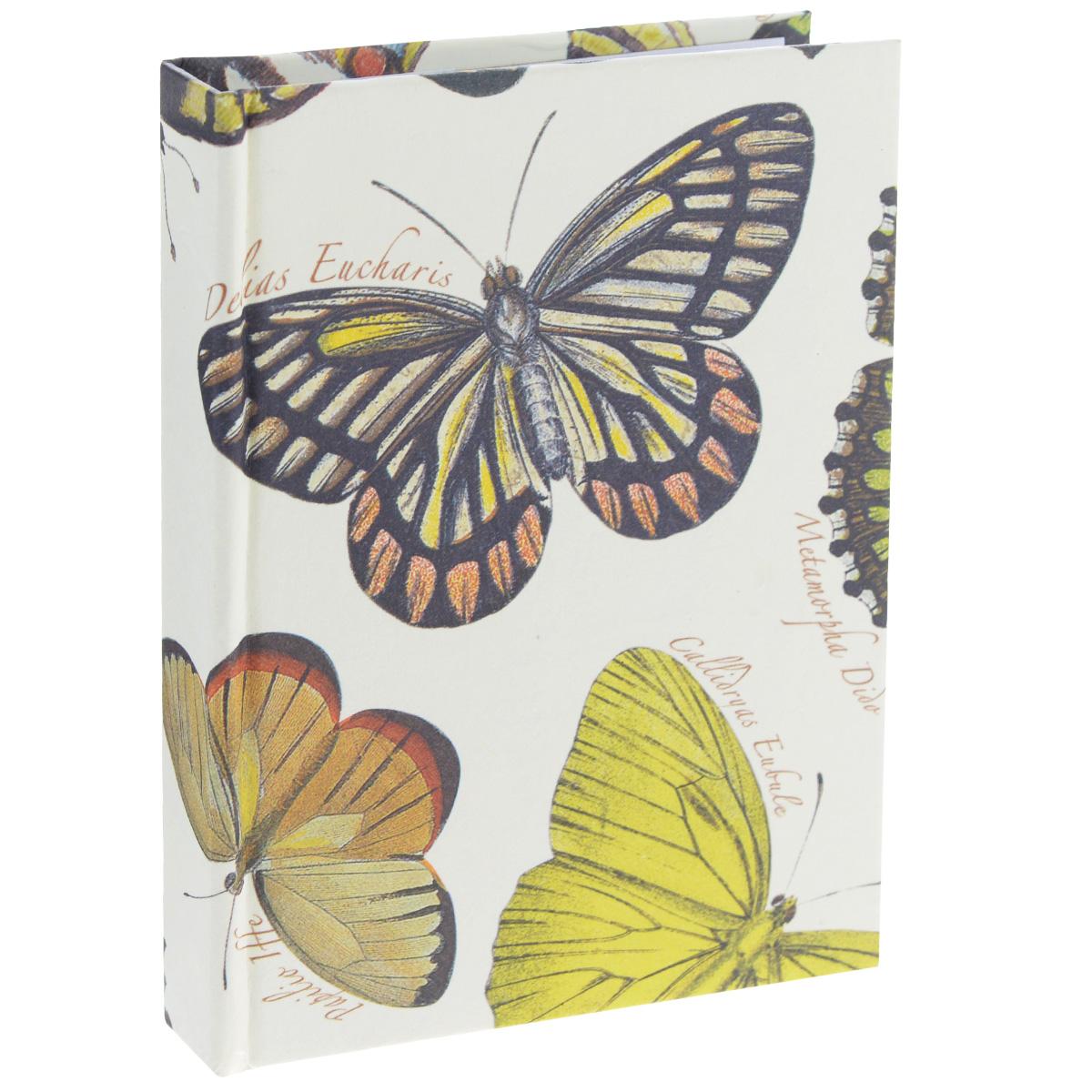 Блокнот Власта Артбук. Бабочки, 7,5 х 10 см, 150 листов12-13/ГПБлокнот Власта Артбук. Бабочки с отрывными листами предназначен для набросков и записей. Жесткая картонная обложка украшена изображением бабочек. Блок содержит 150 белых листов без разметок размера 7,5 х 10 см с логотипом Artbook. Такой блокнот удобен тем, что может легко умещаться в дамской сумочке и в барсетке. Жесткая (книжная) обложка предохраняет листы от порчи и замятия. Общий размер блокнота: 8 х 10,5 см. Количество листов: 150. Размер листов: 7,5 х 10 см.