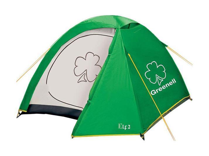 GREENELL Палатка Эльф 2 V3, цвет: зеленый. Арт.9550995509-367-00Палатка с одним входом и одним тамбуром, сетка о москитов на входе. Внутренние карманы для размещения мелочей. Подвесная полка, петля для фонаря. Новая верхняя ткань со специальной пропиткой защищает от ультрафиолета до 90% (UPF 50+) и предотвращает распространению огня.