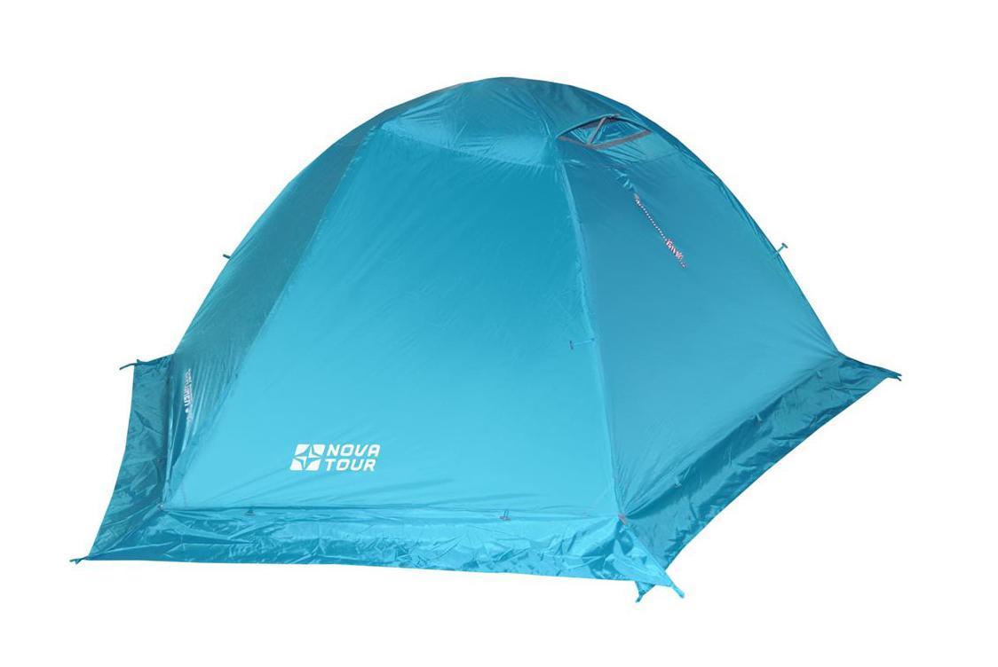NOVA TOUR Палатка Эксплорер 3 V2, цвет: Нави. Арт.9541695416-306-00Сочетает в себе удобство туристической и надежность горной модели. Обладает высокой ветроустойчивостью. Благодаря поперечной полудуге увеличен объем тамбуров. Внутренняя палатка может использоваться без тента.