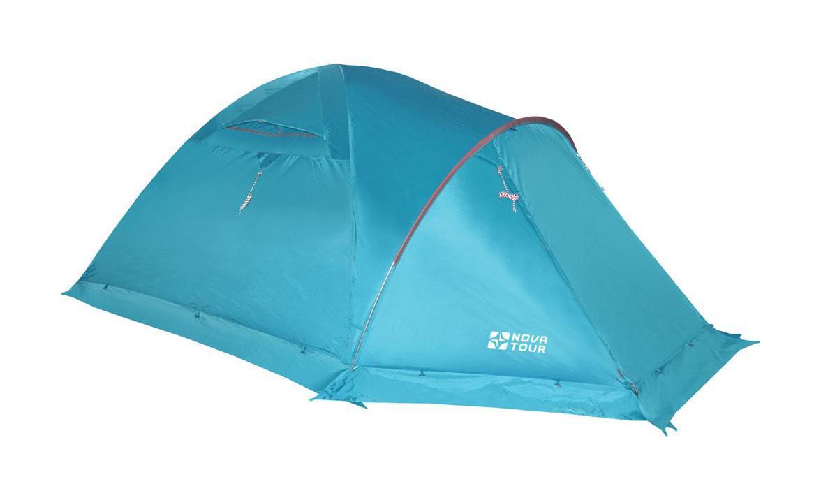 NOVA TOUR Палатка Терра 4 V2, цвет: Нави. Арт.9541895418-306-00Усовершенствованная система вентиляции, позволяет открывать и закрывать вентиляционный клапан тента изнутри. Удобный Q-образный вход, ветрозащитная юбка. Оттяжки со светоотражающими нитями. Гермочехол для хранения мокрого тента и внутренней палатки. Просторный тамбур, противомоскитные сетки. Дополнительная дуга образует над входом крышу, которая препятствует попаданию дождя внутрь даже при открытой двери тамбура.