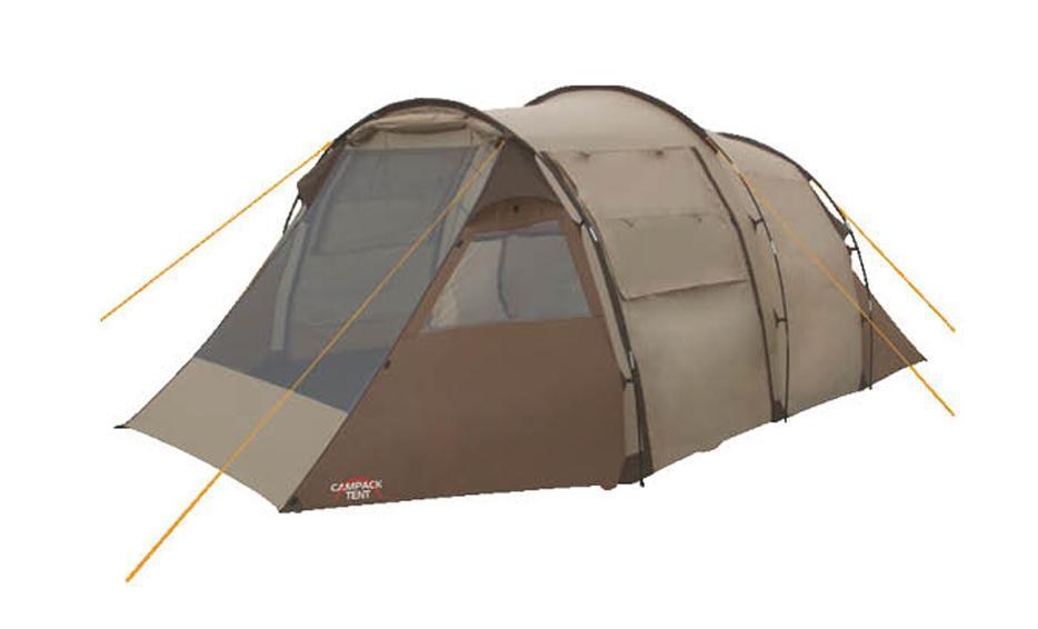 Палатка кемпинговая CAMPACK-TENT Land Voyager 4 (2013) (олива) арт.00376310037631Кемпинговая палатка Land Voyager 4 (Campack Tent) представляет собой конструкцию в форме полубочки с вместительным тамбуром. Предназначена для защиты от непогоды, временного проживания, а также хранения вещей и снаряжения в походных условиях. Палатка вместительностью до 4-х человек. Большой тамбур можно использовать как столовую или разместить в ней походную кухню. Тент, дно палатки и дополнительный пол тамбура изготовлены из водонепроницаемого материала. Высококачественный каркас изготовлен из фибергласса и обеспечивает надежность и устойчивость. Модернизирована схема крепления внешних дуг, что облегчает установку палатки. Кемпинговая палатка Land Voyager 4 оснащена тремя входами, что создает отличные условия для проветривания, а противомоскитная сетка на главном входе защитит от насекомых. Предусмотрены также дополнительные вентиляционные окна, полочка, кольцо для фонаря, карманы во внутренней палатке. Проклеенные швы гарантируют герметичность и надежность в любой ситуации....