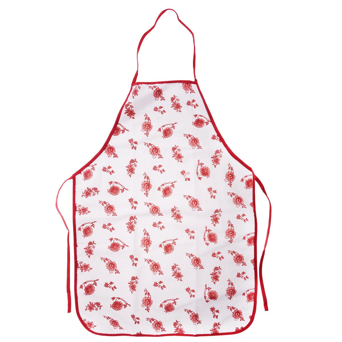 Фартук Коралл, цвет: белый, 50 см х 74 см. 791982791982Фартук Коралл станет незаменимым аксессуаром на вашей кухне. Фартук изготовлен из 100% хлопка, приятный и мягкий на ощупь. Фартук Коралл - отличный вариант для практичной и современной хозяйки. Размер фартука: 50 см х 74 см.