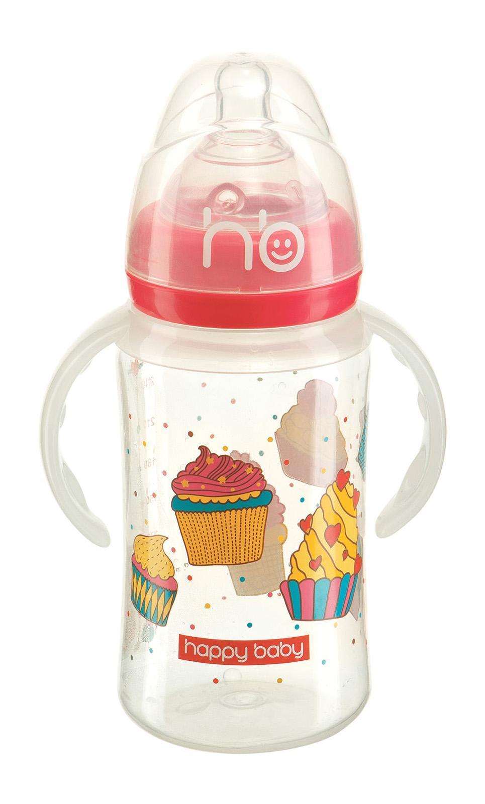 10010 New Red Бутылочка для кормления с ручками