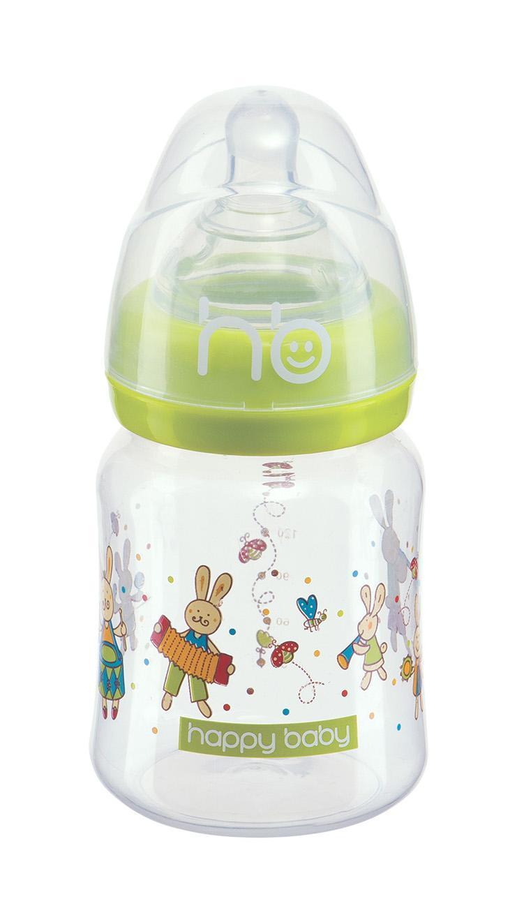 Happy Baby Funny Bunny Lime, 150 мл, от 0 до 6 месяцев, цвет: зеленый