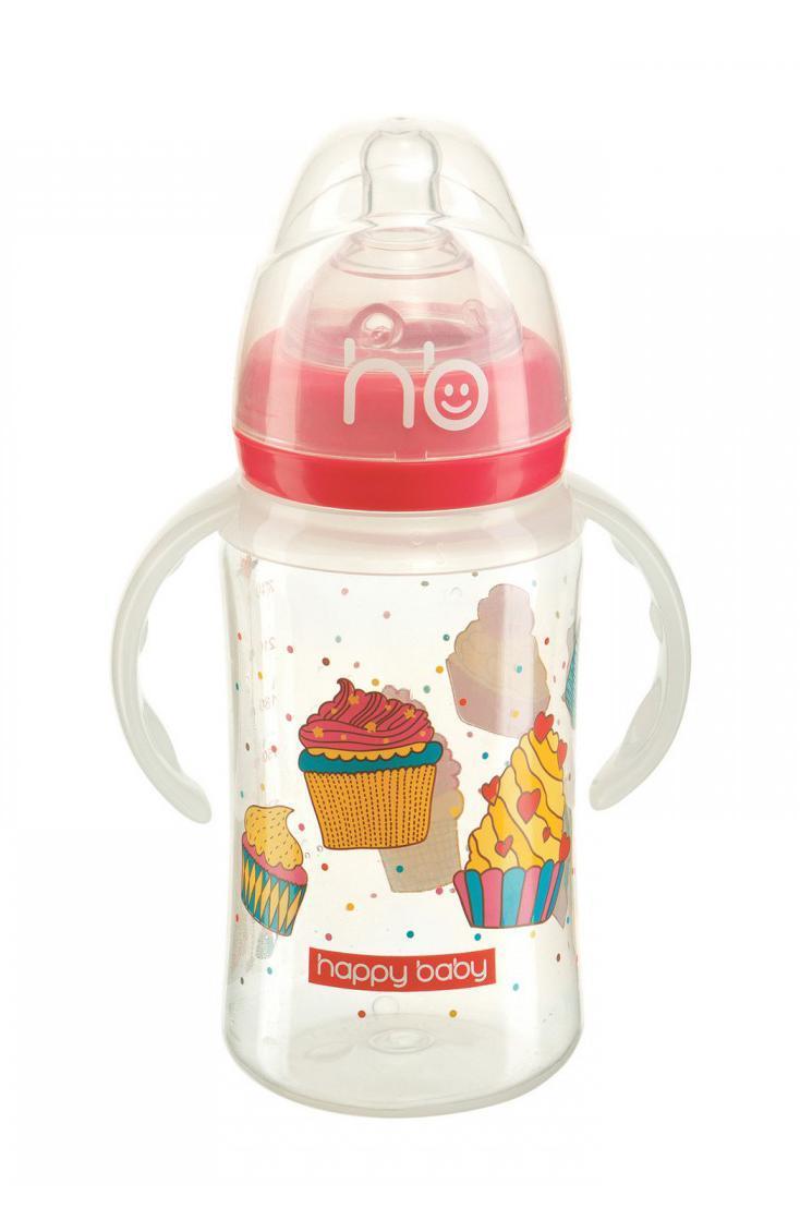 10010 New Бутылочка для кормления с ручками MILKY STORIES 240 мл10010 NewБутылочка 240 мл Milky Stories Happy baby с удобными ручками изготовлена из полностью безопасных материалов, снабжена широким горлышком, благодаря чему ее удобно мыть, а также укомплектована полезными аксессуарами - ершиком, гирькой-трубочкой для жидкостей и двумя сосками.