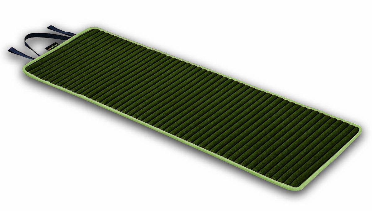 Коврик для аэробики Ecowellness, с ручкой, цвет: зеленый, 152,4 см х 56 см. QB-8500EN-BQB-8500EN-BКоврик для аэробики Ecowellness сделает ваши занятия спортом комфортными и приятными. Высокопрочная прокладка из вспененного материала, покрытая мягкой тканью (полиэстером). Прекрасно подходит для занятий йогой, пилатесом, аэробикой. Изделие оснащено текстильной ручкой для удобной переноски. Легко моется и чистится, нескользящая поверхность обеспечивает комфорт и эффективность тренировок. Удобен в хранении, очень компактен в скрученном состоянии.