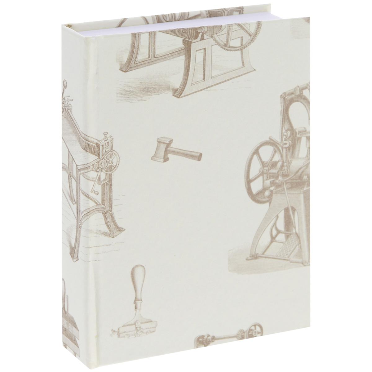 Блокнот Власта Артбук. Ретро, 7,5 х 10 см, 150 листов12-11/ГПБлокнот Власта Артбук. Ретро с отрывными листами предназначен для набросков и записей. Жесткая картонная обложка украшена изображением старых механизмов и инструментов. Блок содержит 150 белых листов без разметок размера 7,5 х 10 см с логотипом Artbook. Такой блокнот удобен тем, что может легко умещаться в дамской сумочке и в барсетке. Жесткая (книжная) обложка предохраняет листы от порчи и замятия. Общий размер блокнота: 8 х 10,5 см. Количество листов: 150. Размер листов: 7,5 х 10 см.