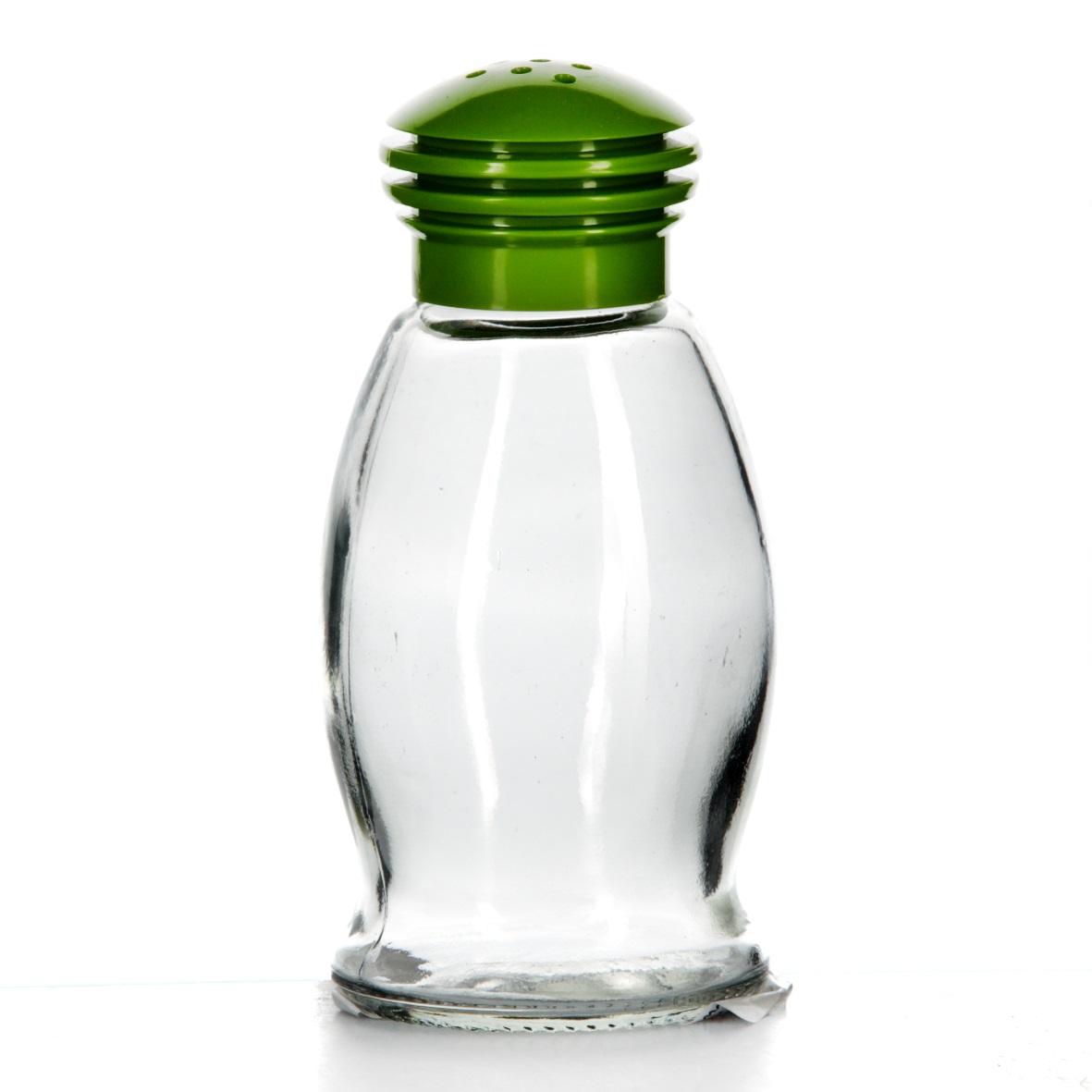 Солонка Herevin, цвет: зеленый, 85 мл. 121091-000121091-000Солонка Herevin выполнена из прозрачного стекла и оснащена пластиковой цветной крышкой с отверстиями, благодаря которым, вы сможете посолить блюда, просто перевернув банку. Крышка легко откручивается, благодаря чему засыпать соль внутрь очень просто. Такая солонка станет достойным дополнением к вашему кухонному инвентарю. Можно мыть в посудомоечной машине. Объем: 85 мл. Диаметр (по верхнему краю): 2 см. Высота солонки (без учета крышки): 9 см.